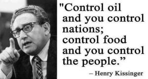 Kissinger - control food