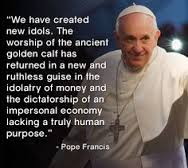 Pope Francis on money