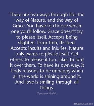 The way of nature and grace