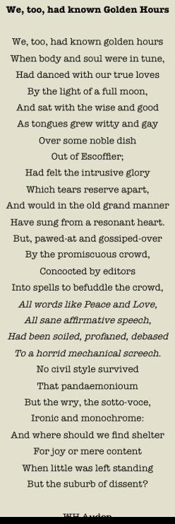 Auden Golden Hours